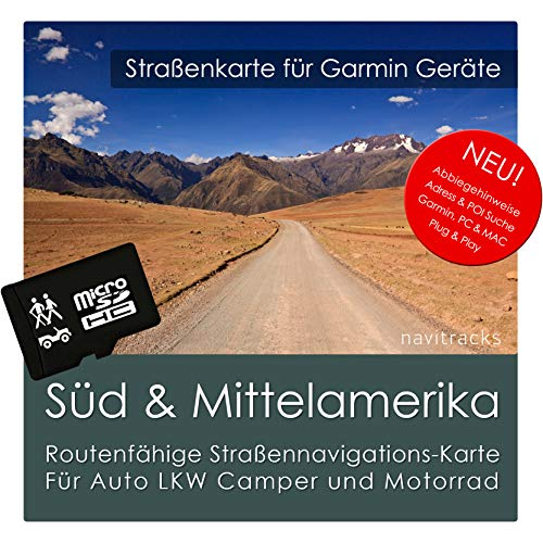 Südamerika und Mittelamerika Garmin Karte 8 GB microSD. GPS Straßenkarte. Navigationsgeräte, PC & MAC Garmin Streetpilot C580