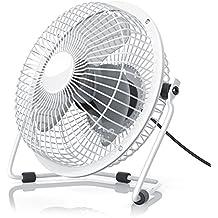 CSL - Ventilatore USB | ventilatore da tavolo / ventola | alloggiamento in metallo / pale in plastica | PC / notebook | in bianco