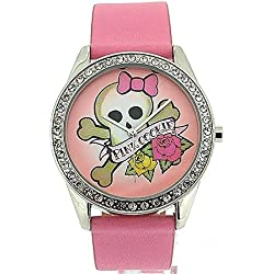 Pink Cookie Ladies-Girls Analogue Pink Dial & PU Strap Watch PCL-0011