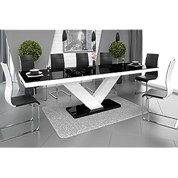 esstisch victoria tisch ausziehbar in super hochglanz. Black Bedroom Furniture Sets. Home Design Ideas