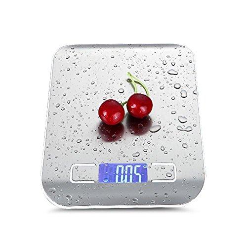 JMung'S Bilancia Da Cucina Digitale Bicchiere Multifunzionale Accuweight Professionale,Acciaio Inossidabile Capacità Massima 5Kg , white , 10kg/1g