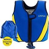 Limmys Premium Neopren Schwimmweste, ideale Schwimmhilfe für Jungen und Mädchen, EXTRA Kordelzugtasche inklusive,