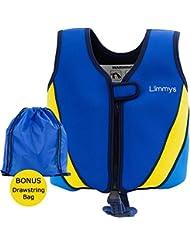 Limmys Premium Neoprene Swim Vest for Children, Ideal Buoyancy Swimming Aid for Boys and Girls, BONUS Drawstring Bag Included, 2 x BONUS eBooks