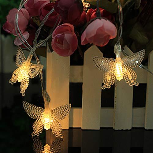 �en, 10LED Rose Lichterkette Außen Wasserdichte Beleuchtung dekorative Lichter für Zaun Dekoration Party, Weihnachten, Außen, Hochzeit, Garten,Haus,Fest Deko ()