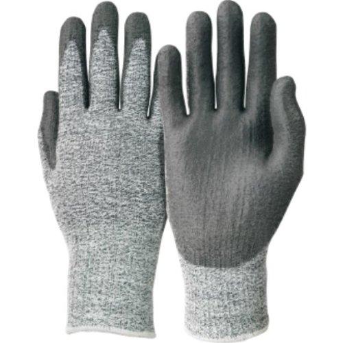 Handschuhe nahtloses Trikot, grau/schwarz, PU EN38, Handschuhgröße : 8, Farbe : grau/schwarz, VPE: 10 -