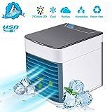 TTMOW Climatiseur USB Portable Refroidisseur d'air 4 en 1 Ventilateur de Climatisation Silencieuse...