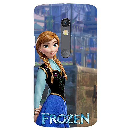 PrintVoo Disney Frozen Anna Princess Printed Mobile Case for Moto X Play