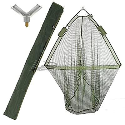 "42"" CARP FISHING LANDING NET with DUAL NET FLOAT SYSTEM + GREEN STINK BAG from NGT"