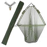 42-CARP-FISHING-LANDING-NET-with-DUAL-NET-FLOAT-SYSTEM-GREEN-STINK-BAG
