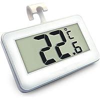 Termometri per Frigoriferi Digitale Termometro da Frigo Mini Impermeabile Congelatore Termometro con Gancio LCD Display Gamma  20  x2103  a 60  x2103  Con Display LCD di Facile Lettura