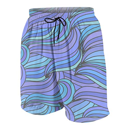 IconSymbol Swim Trunks Deep Ocean Waves Beach Beach Shorts Printed Funny Quick Dry for Kids Boys -