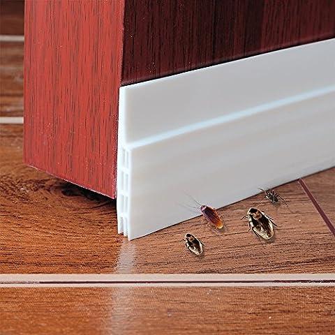 Unter dem Tür-Fegen-Wetter-abisolierenden Tür-unteren Dichtungs-Streifen,5cm Breite x100cm Länge (weiß)