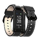 RQINW Fitness Armband Wasserdicht Fitness Tracker Sport Armband Touchscreen Fitness Armbanduhr mit Schrittzähler/Anruf Nachricht Benachrichtigung Für Kinder Frauen Männer
