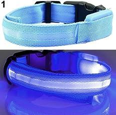 osmanthusFrag Einstellbare Hundehalsband LED Light Night Safety Flashing Leucht Welpen Hund Katze Geschenk