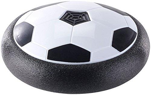 Playtastic Unisex Jugend NC-3996 Hoverball: Schwebender Luftkissen-Indoor-Fußball mit Möbelschutz und Farb-LEDs (Fußballscheibe), bunt, 1
