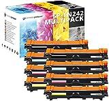 8 HOCHLEISTUNGS TONER nach ( ISO-Norm 19798) 2.900 Seiten Schwarz , 2.600 Seiten color für Brother HL-3142cw HL-3152cdw HL-3172cdw MFC-9332cdw MFC-9142cdn MFC-9342cdw DCP-9022cdw TN-242bk TN-246c TN-246m TN-246y ,Druckqualität ist wie beim Original Toner
