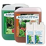 AQUALITY Aquarium Pflanzen-Pflege 2er-Sparset (GRATIS Lieferung in DE - Enthält Pflanzendünger mit Allen wichtigen Spurenelementen und Mineralien und Eisendünger FE2), Set-Größe:Set 5000
