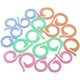 Welecom 20pcs Jersey para tejer ganchillo Locking Stitch Marker Circular abierto Counting Weaving Kit de herramientas