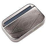 HGDR 110 mm Zigarettenhersteller Automatische Zigarettenmaschine Metall Box Tabak Rauchen Roller und Aufbewahrungskoffer,Silver-110mm