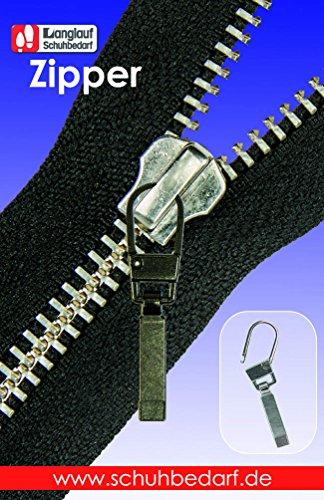 Langlauf Fashion Reißverschluss Zipper Classic Reisser zur Reparatur defekter Reissverschlüsse drei Farben Auswahl (brüniert)