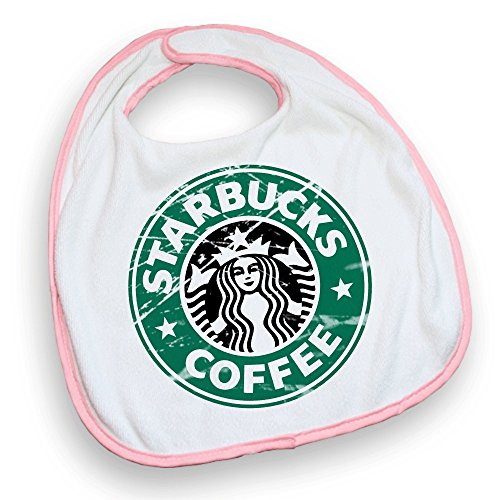 Bavoir rose Starbucks Coffee Destroy - Fabriqué en France - Chamalow Shop