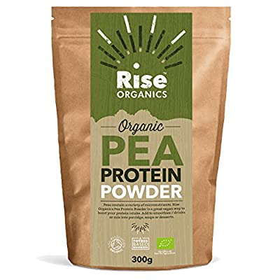 Organic Pea Protein Powder by Rise Organics | Vegan | High quality Protein | 80% Protein | Resealable Foil Pack for Freshness .