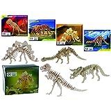 3D Puzzle Holzpuzzle Dinosaurierskelett 4 verschiedene Dinos Mitgebsel Gastgeschenk 4 Stück Palandi®