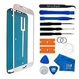 MMOBIEL Front Glas Reparatur Set für Samsung Galaxy Note 2 N7100 Series (Weiß) Display mit 11 TLG. Werkzeug-Set
