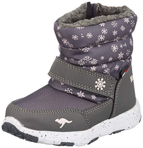 KangaROOS Unisex Baby Snowrush Stiefel, Grau (Steel Grey/Frost Pink 2017), 24 EU
