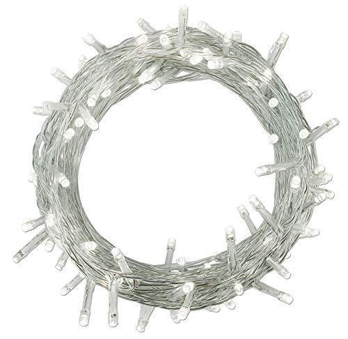 YOSION 100-1000 LEDs 4 Farben Wählen LED Lichterkette Weihnachten Kette Leuchte auf Transparent Kabel (1000 LEDs, Weiß) (Weiße Weihnachten Led-leuchten)