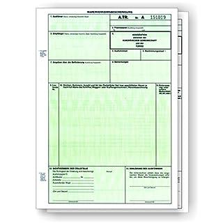 100 x A.TR. / ATR Warenverkehrsbescheinigung Türkei 2-fach für Laserdrucker und Tintendrucker, Einzelblätter DIN A4 lose im Wechsel