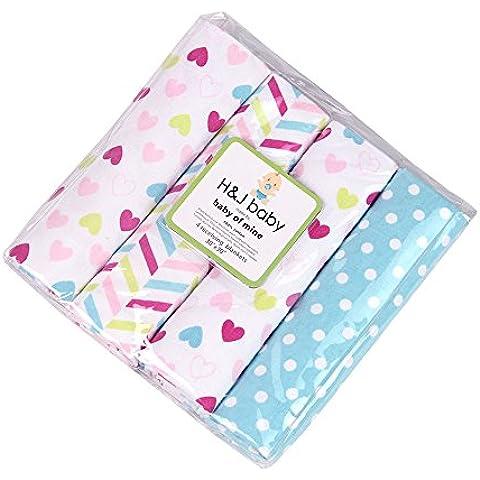 Harson & Jane qualità premium 100% cotone Baby coperte Confezione