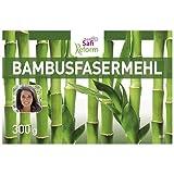 Bambusfaser Mehl Dreierpack 3 x 300 g | low carb paleo vegan glutenfrei keto | Bambusmehl als Backzutat | gesund abnehmen kohlenhydratarm ballaststoffreich | Dreierpack Sparpaket