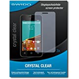 3 x SWIDO Crystal Clear Screen Protector for Vodafone Smart First 6 - PREMIUM QUALITY (crystalclear, hard-coated, bubble free application)