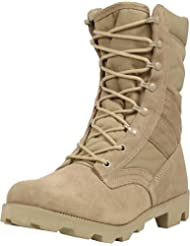 "'US piel Desert Botas ""Military specification con puntera., caqui, 16/50"