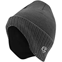 Adults Unisex Thermal Knitted Winter Ski/Winter Hat With Lining (shaped To Cover Ears)
