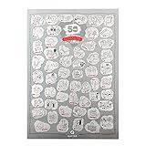 Qapter Poster Rubbelkarte für Paare-55 Ideen für mehr Romantik im Alltag-Bucketliste als perfektes Geschenk für Romatiker und die, die es werden wollen, DINA2 (59,5 x 42 cm)