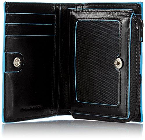 Piquadro PP1351B2 Portafoglio, Collezione Blu Square, Nero Nero
