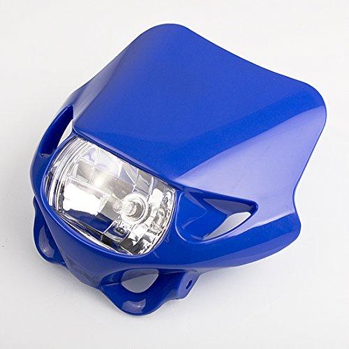Arlows 12V 35/35W Enduro Lampenmaske Blau Cross Supermoto Streetfigher Oval