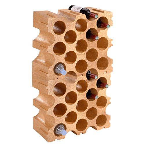 Weinregal / Flaschenregal TERRAKOTTA, Kunststoff, 2er-Set für 30 Flaschen, stabelbar / erweiterbar...