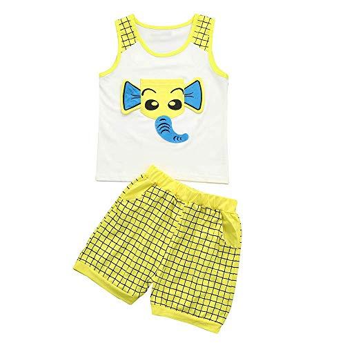 Staresen Babykleidung Sommer Kinderkleidung Mädchen Sommer Baby Bekleidungssets Prinzessin Kleid mädchen T-Shirt Kleidung Top + Hosen Set Outfits KleidungTrainingsanzug Kleidung (M, Gelb ()