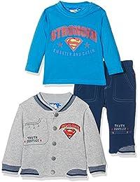 Superman Baby-Jungen Bekleidungsset Superbaby Smarter and Stronger