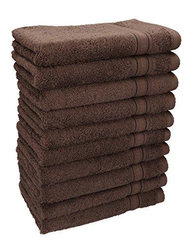 Betz set di 10 asciugamani per ospiti asciugamano ospite salvietta asciugamano da bidet asciugamano per le mani misure: 30 x 50 cm, qualità: 600g/m² gold, colore: marrone noce