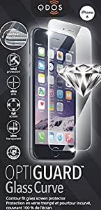QDOS OptiGuard Curve Film de protection d'écran en verre trempé pour iPhone 6/6S-Transparent