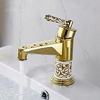 WP- All-in rame bacino caldo e freddo unico foro antico europeo rotante multifunzione rubinetto