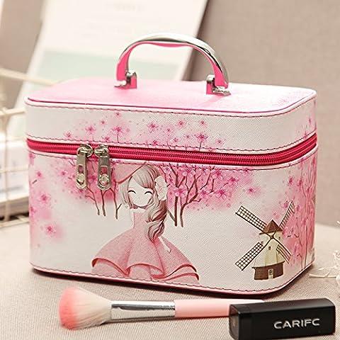 Trousse de toilette femme belle grande capacité sac à main sac cosmétique voyage vanity case cosmétique portable package package ,rose girl,small