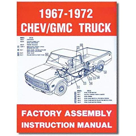 1967-1972 Chevy Chevrolet GMC Truck Assembly Manual (with Decal)