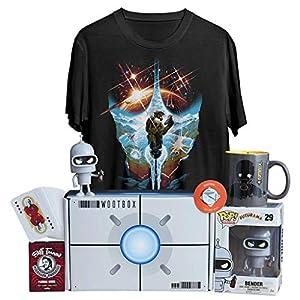 WOOTBOX Space - Caja de Regalo - Halo - Futurama - BTTF - Star Wars - Talla M Bender, WTB-2018-007-FR-00F-000M-000, Gris