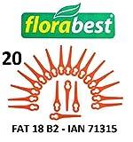 Florabest 20 Kunststoffmesser Florabest Akku Rasentrimmer FAT 18 B2 - LIDL IAN 71315 - FAT 18B2 / FAT18B2 / Material PA6