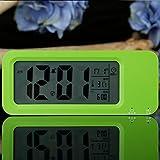 KHSKX Briefing de création étudiante l'horloge numérique de la radio-réveil, horloge fashion, paresseux nuit électronique charge enfants réveil d'inhibition , green